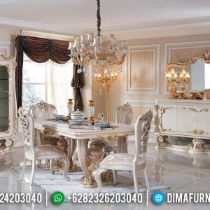 Meja Makan Mewah 6 Kursi Ukiran Luxury Carving New Furniture Jepara TTJ-0738