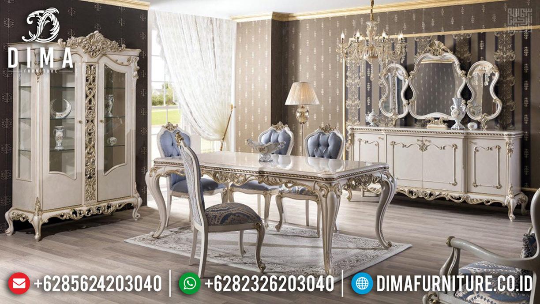Meja Makan Mewah Rome Edition Luxury Classic Carving Furniture Jepara TTJ-0669
