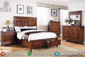 Model Laci Tempat Tidur Minimalis Kayu Jati Furniture Jepara Klasik TTJ-0690