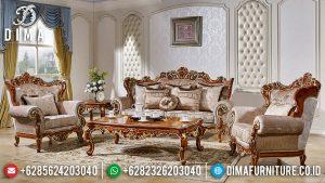 Model Ruang Tamu Mewah Sofa Ukiran Luxury Carving Furniture Jepara TTJ-0756