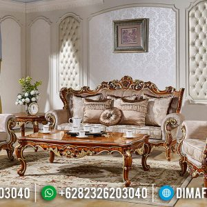 Model Ruang Tamu Mewah Sofa Ukiran Luxury Carving Furniture Jepara TTJ-0756