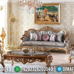 New Design Sofa Tamu Mewah Ukiran Klasik Jepara Luxury Italian Style Artistik TTJ-0754