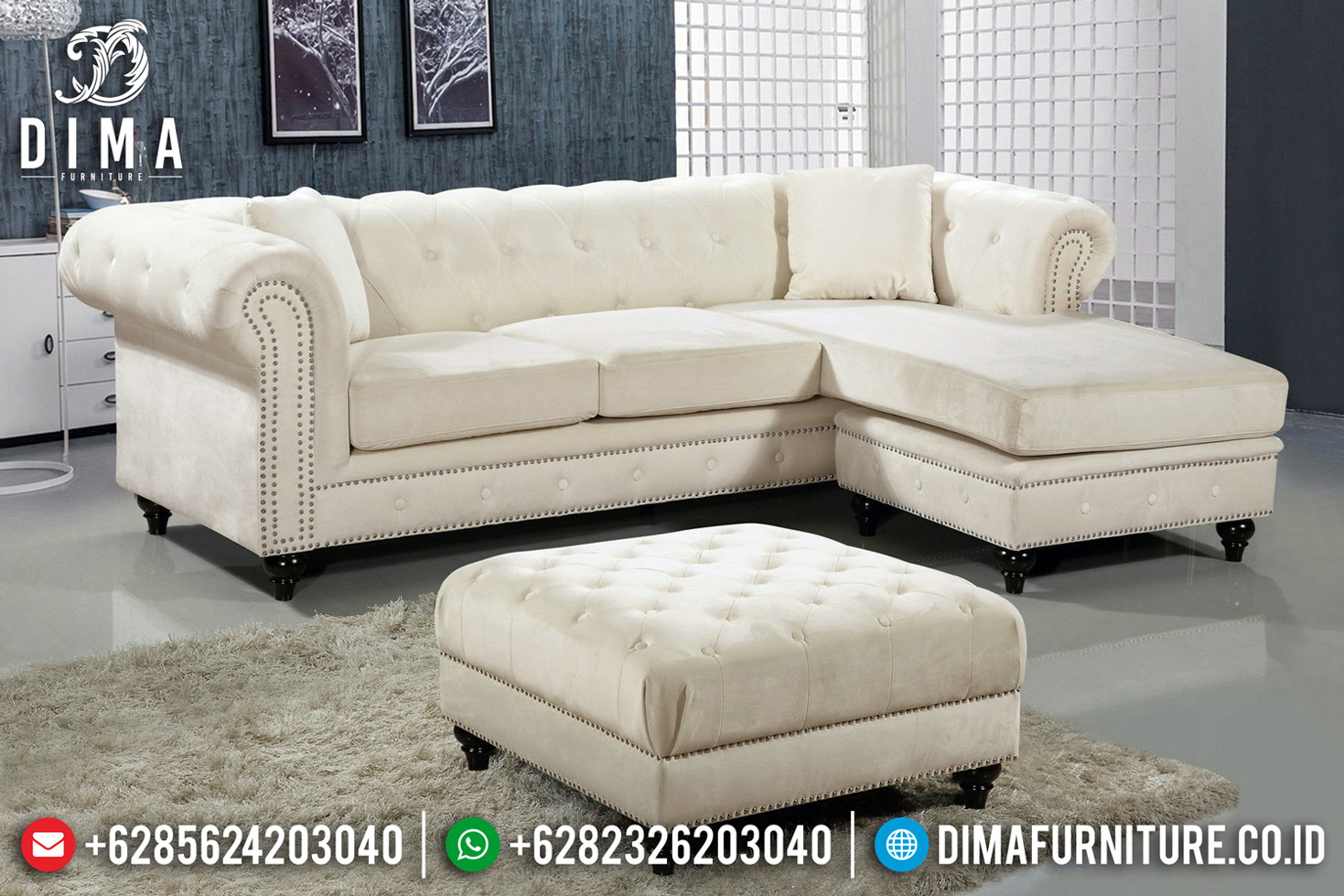 New Sofa Tamu Minimalis Jepara Natural Jati Grade A Luxury Wood TTJ-0726