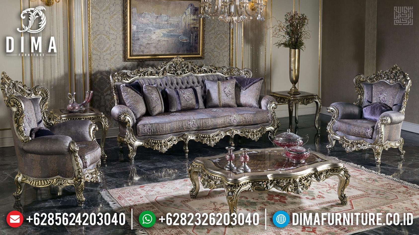 New Sofa Tamu Ukiran Mewah Silver Duco Luxury Classic Jepara TTJ-0710