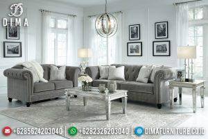Set Sofa Tamu Minimalis Jepara Natural Jati New Modern Design TTJ-0728