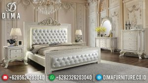 Set Tempat Tidur Mewah, Dipan Ranjang Luxury, Kamar Tidur Ukiran Jepara 2020 TTJ-0682
