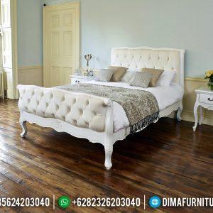 Set Tempat Tidur Mewah Putih Duco New Luxury Classic French Style TTJ-0760