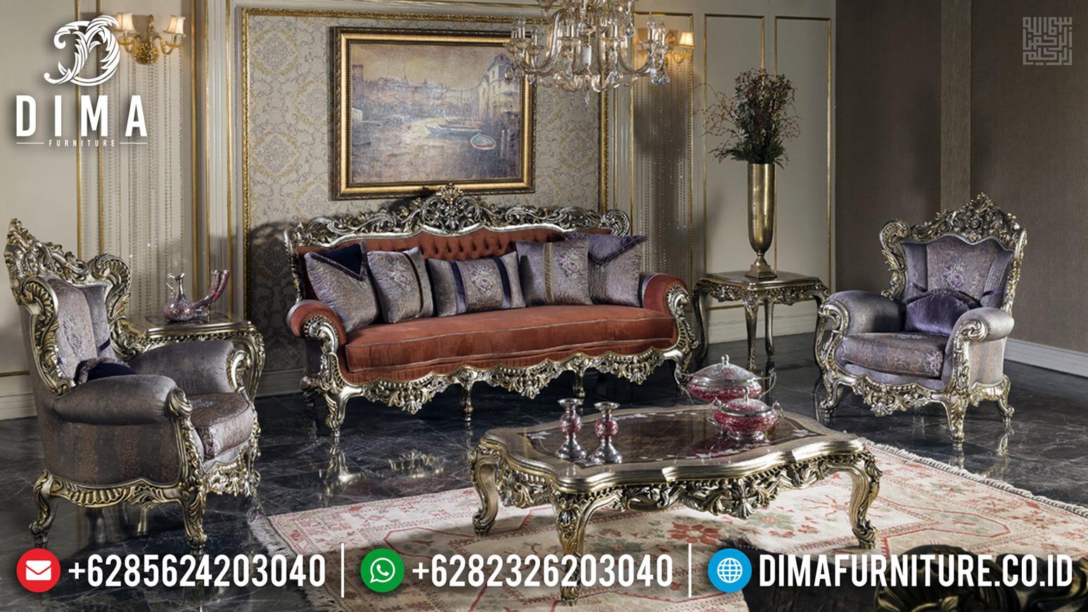 Spesial Ramadhan Sofa Tamu Mewah Ukiran Luxury Classic Best Sale TTJ-0711