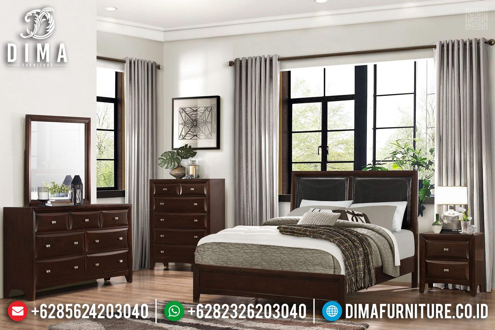 Tempat Tidur Minimalis Jati Natural Classic New Furniture Jepara TTJ-0685