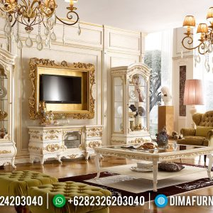 Best Wood Bufet TV Ukiran Set Lemari Hias Mewah Luxury Classic Jepara TTJ-0797