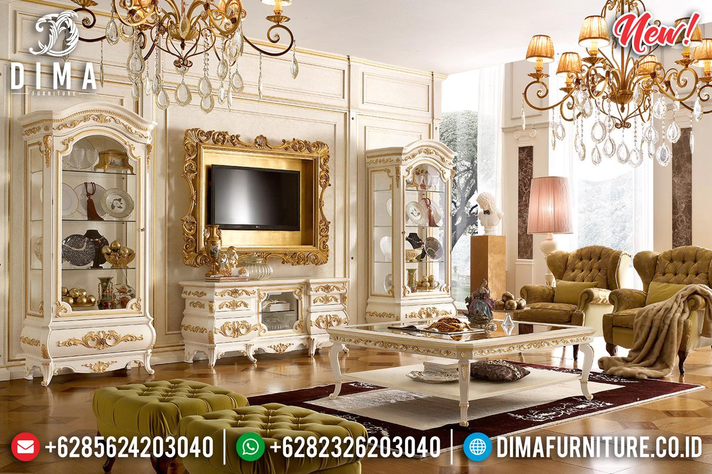 Best Wood Bufet TV Ukiran Set Lemari Hias Mewah Luxury Classic Jepara TTJ-0797