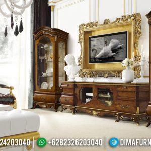 Bufet TV Mewah Kayu Jati Luxury Carving Jepara Good Quality TTJ-0795