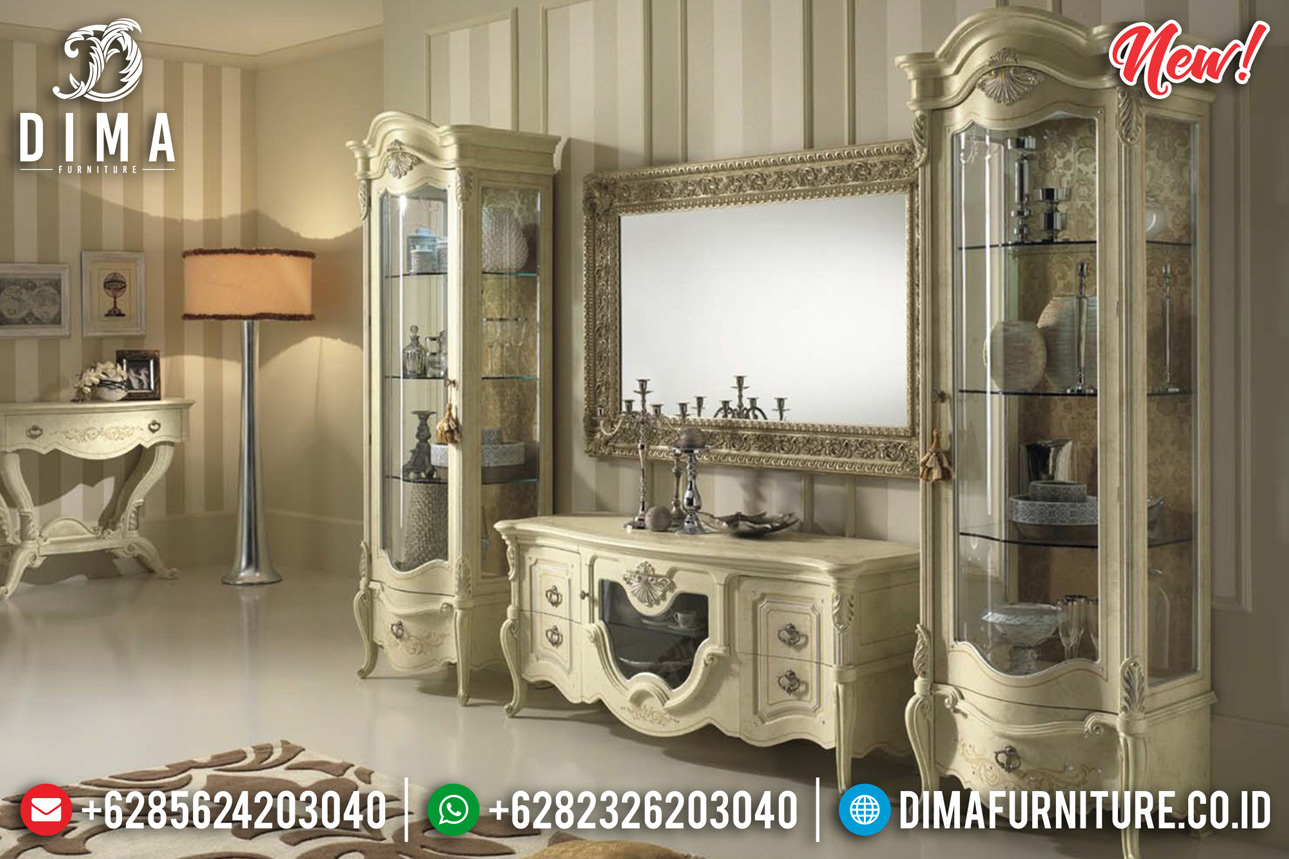 Elegant Style Bufet TV Mewah Klasik Eropa Luxury Carving Great Wood Quality TTJ-0800