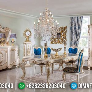 Furniture Jepara Meja Makan Mewah Luxury Klasik New Design Produk TTJ-0772