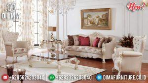 Georgian Model Sofa Tamu Ukir Jepara Luxury Classic Great Wood Quality TTJ-0802