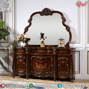 Harga Meja Konsul Mewah Klasik Natural Kayu Jati Best Seller TTJ-0835