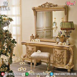 Harga Meja Rias Mewah Unique, Cermin Rias Ukiran Luxury Classic TTJ-0828