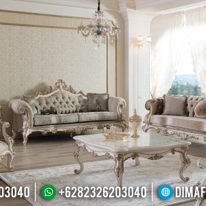 Harga Sofa Tamu Mewah Jepara Renaissance Ukiran Luxury New Design Interior TTJ-0803