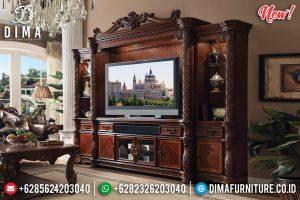 Jual Bufet TV Mewah Jati Natural Ukiran Luxury Royal Classic Jepara TTJ-0845