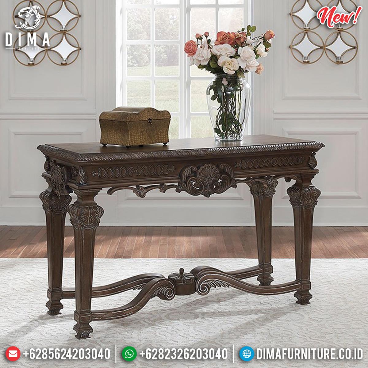 Jual Meja Konsul Jati Naturan Ukiran Luxury New Style Classic TTJ-0834