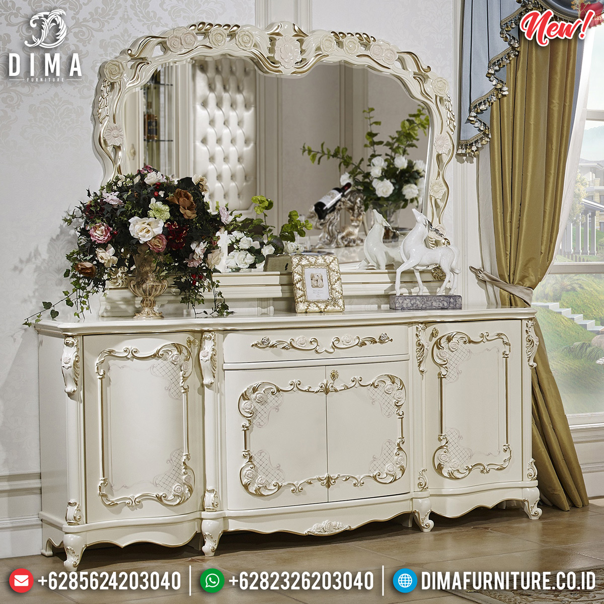 Jual Meja Rias Mewah Luxury Carving Jepara New Normal Version TTJ-0826