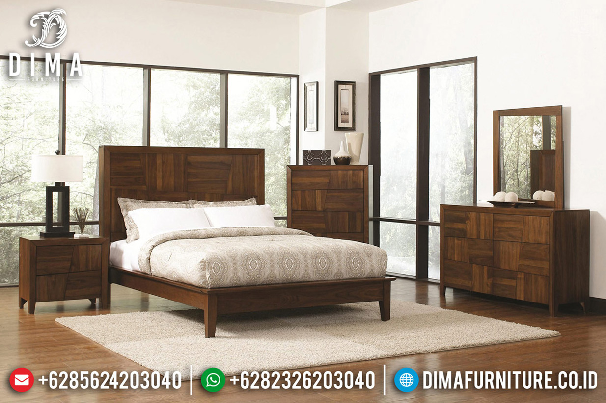Jual Tempat Tidur Jati Natural Minimalis New Interior Ideas Furniture TTJ-0784