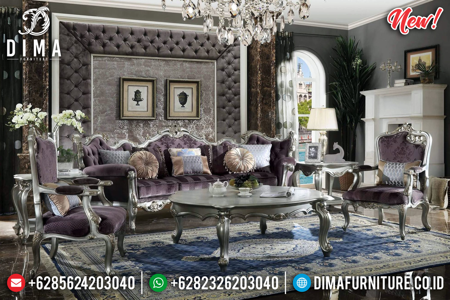 Koltuk Turkey Sofa Tamu Ukiran Jepara Luxury Classic Best Seller Furniture TTJ-0806