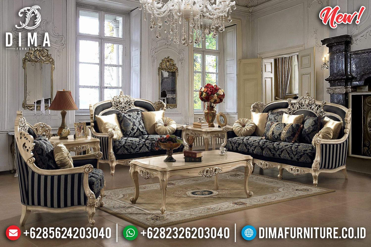 Lexi Style Sofa Tamu Jepara Ukiran Mewah Luxury Royals Classic New Design TTJ-0807