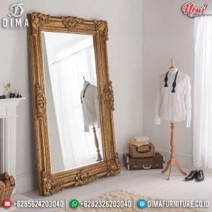 Luxury Gold Leafing Cermin Hias Mewah New Luxurious Classic Furniture Jepara TTJ-0860