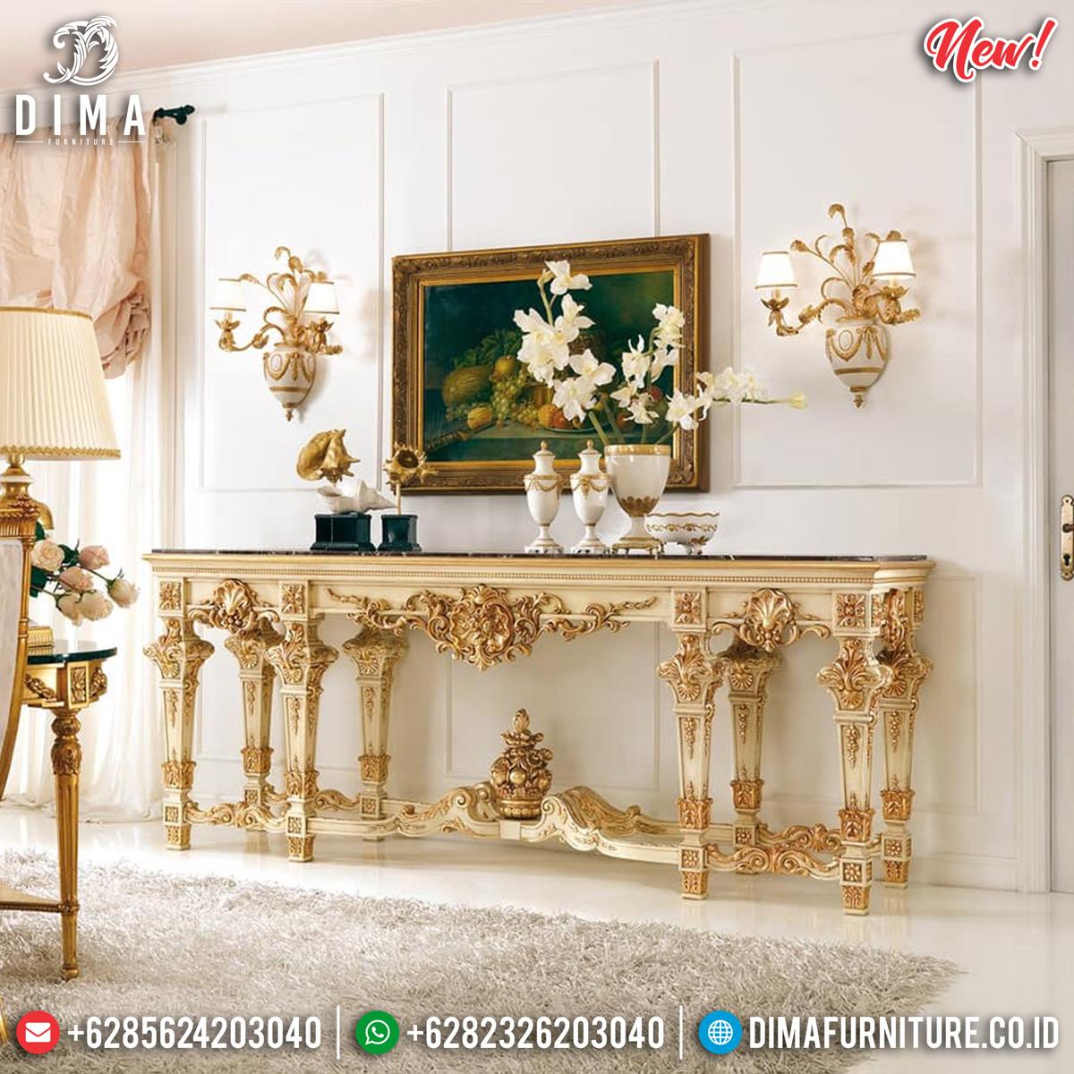 Meja Konsol Mewah Ukiran Jepara Luxury Classic Extraordinary TTJ-0833