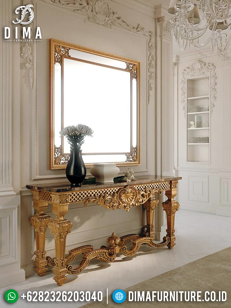 Meja Konsul Mewah Ukiran Luxury Classic Emperial Rome Style TTJ-0777