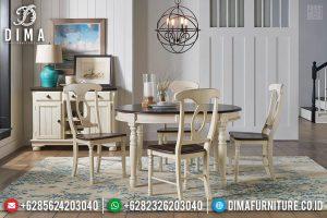 Meja Makan Minimalis Klasik Jati Rustic New Design Best Quality TTJ-0765