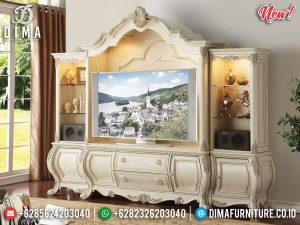Meja TV Mewah Set Lemari Hias Ukiran Jepara New Luxury Carving TTJ-0846