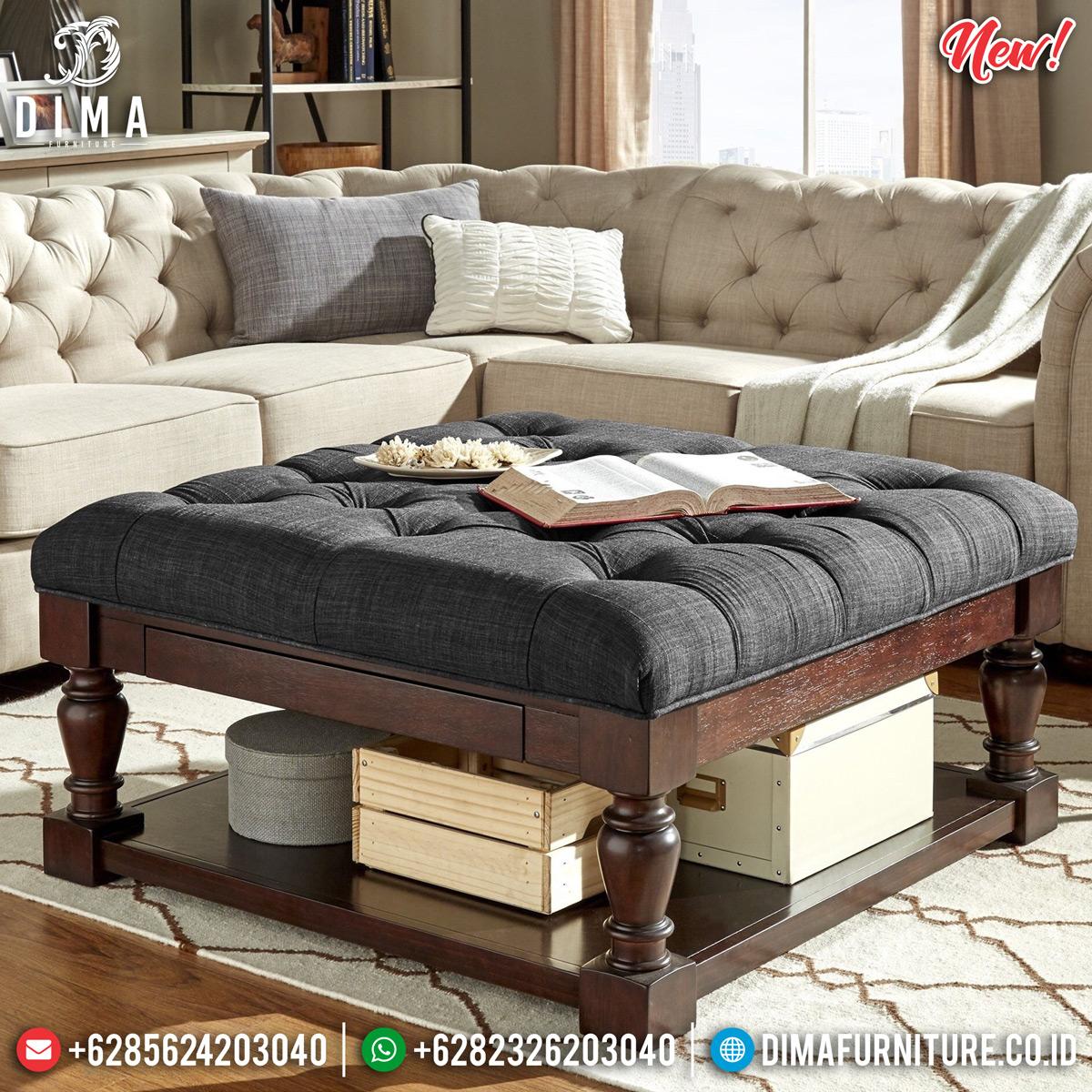 Meja Tamu Minimalis Jati Natural New Epic Style Furniture Jepara TTJ-0830