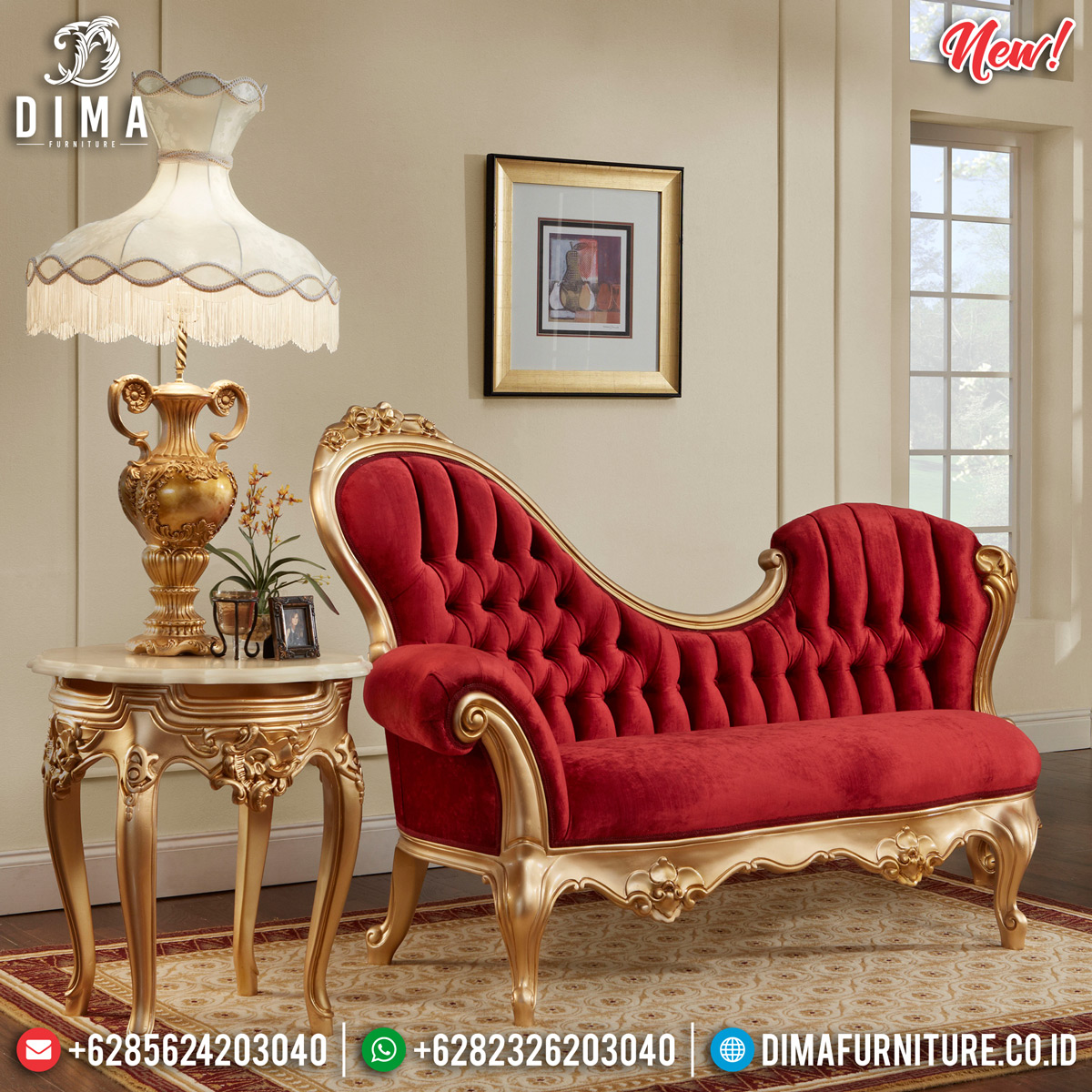 Model Sofa Santai Mewah Ukiran Jepara Desain Glamorous Interior Design Inspiring TTJ-0811