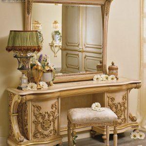 New Desain Cermin Hias Mewah Set Meja Rias Ukiran Mewah Luxury Classic TTJ-0780