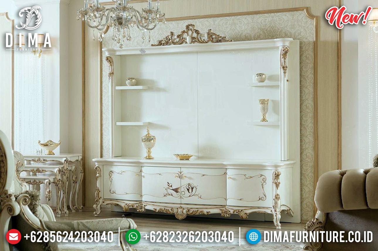 New Lemari Hias Mewah Set Meja TV Ukir Jepara Luxury Classic Design TTJ-0794