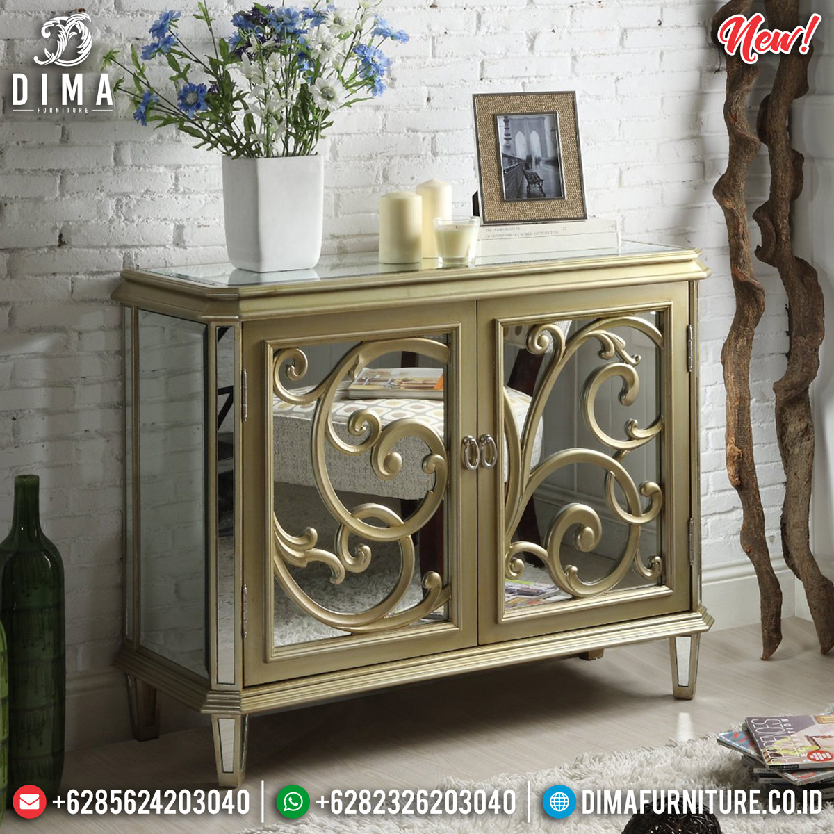 New Meja Konsol Mewah Minimalist Gorgeous Great Solid Wood TTJ-0836 Design 1