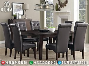 New Meja Makan Minimalis Jati Modern Cat Natural Furniture Jepara TTJ-0785