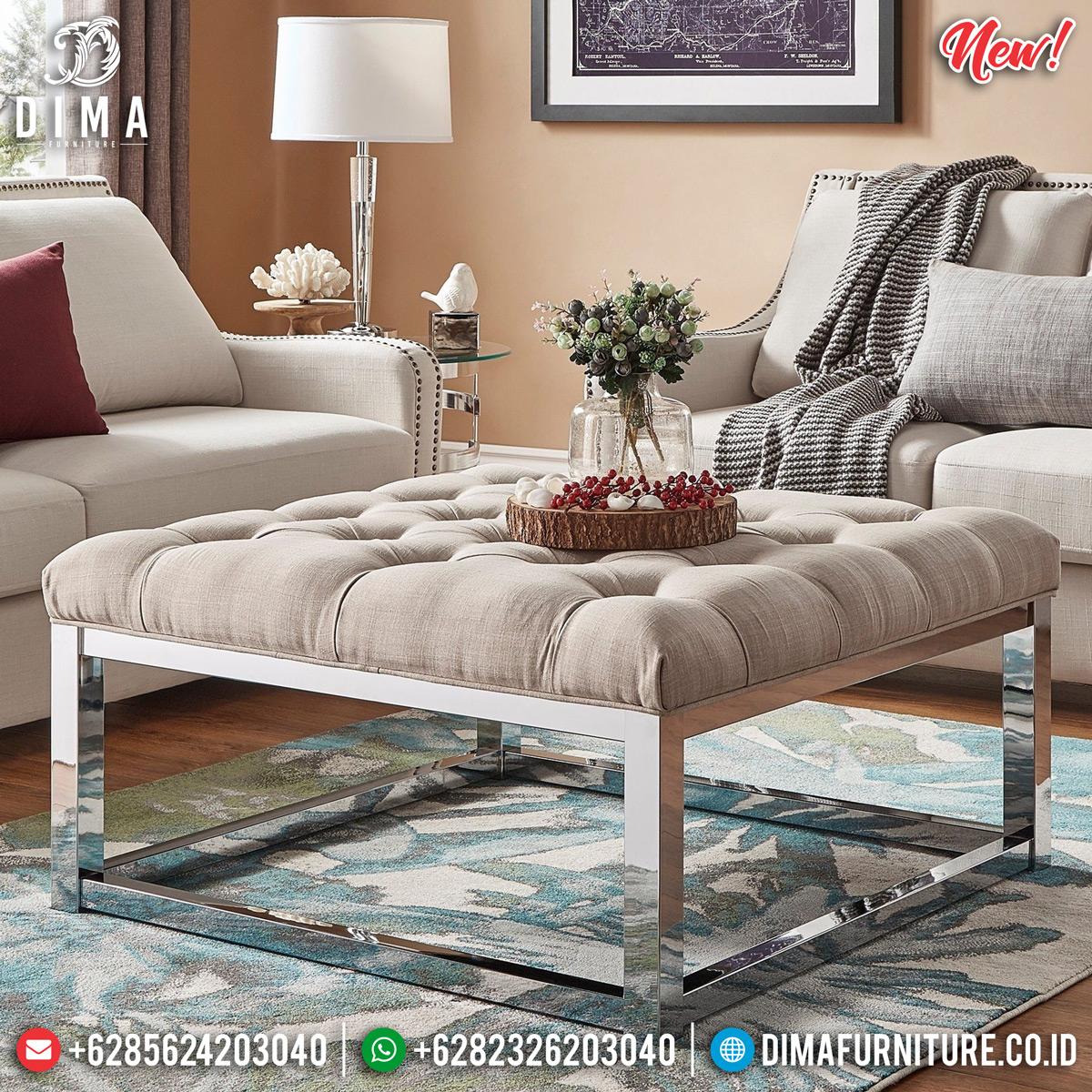 New Meja Tamu Minimalis Stainless Steel Glamorous Design Guaranteed TTJ-0831 Design 1