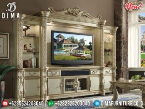 New Model Bufet TV Mewah Luxury Classic Furniture Jepara Terbaru TTJ-0847