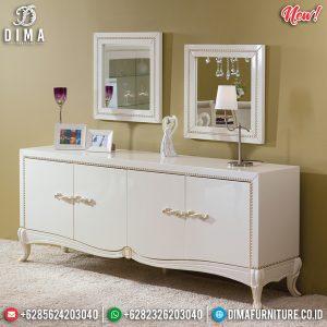 New Normal Meja Konsul Mewah Jepara Luxury White Duco Glossy TTJ-0824