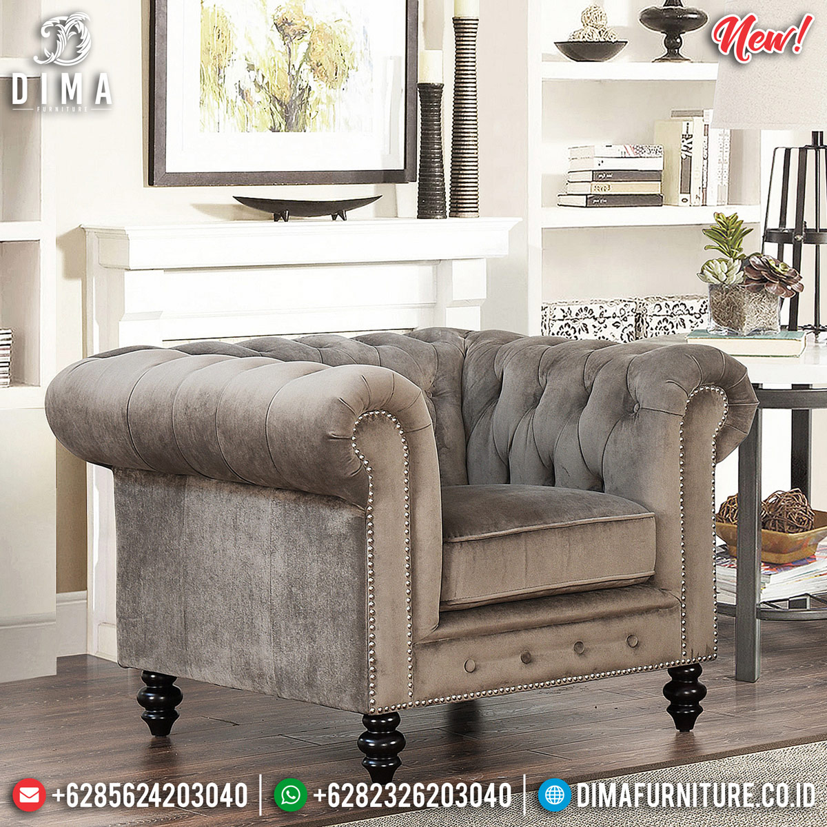 New Sofa Minimalis Modern Single Seater Luxury Furniture Jepara TTJ-0852