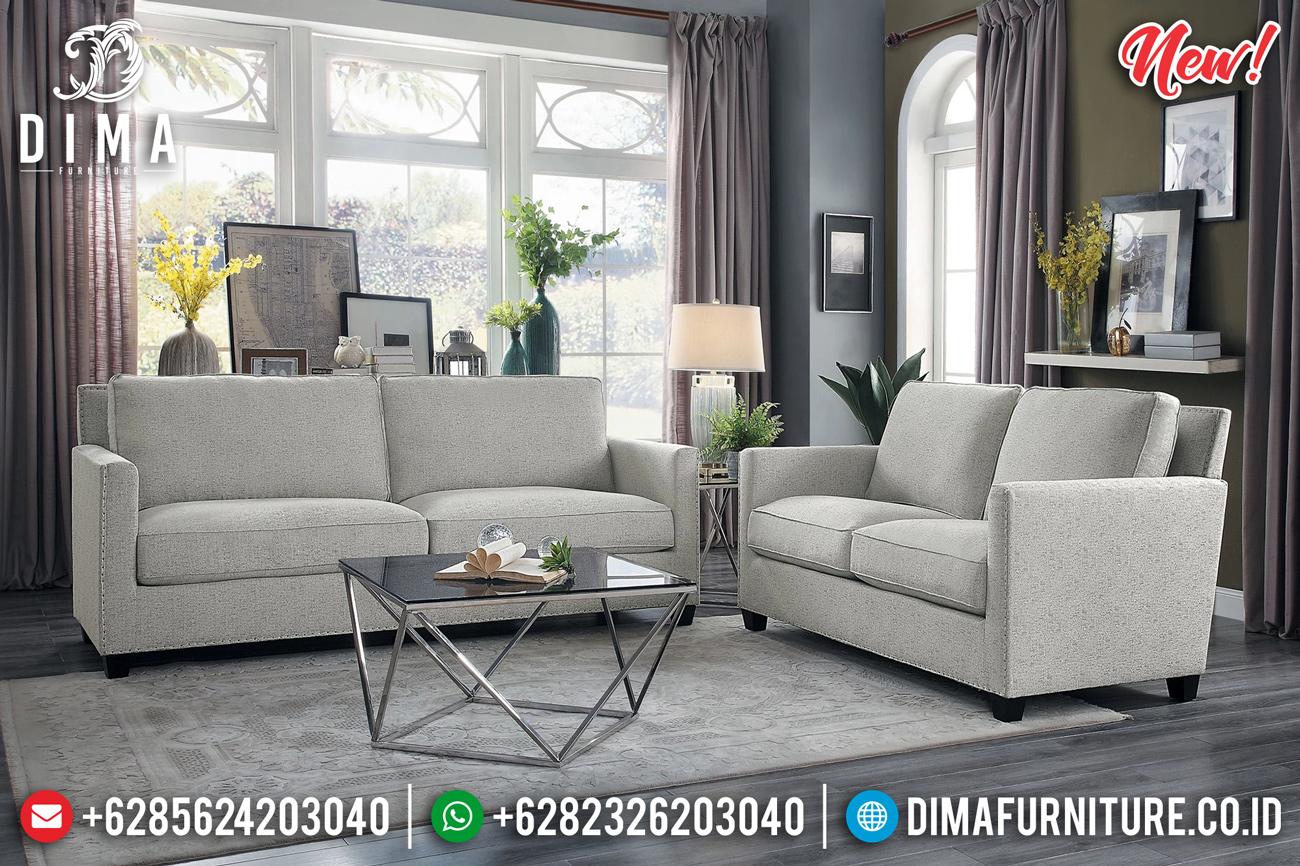 New Sofa Tamu Minimalis Modern Kayu Jati Natural Perhutani Jepara TTJ-0844 Desain 1