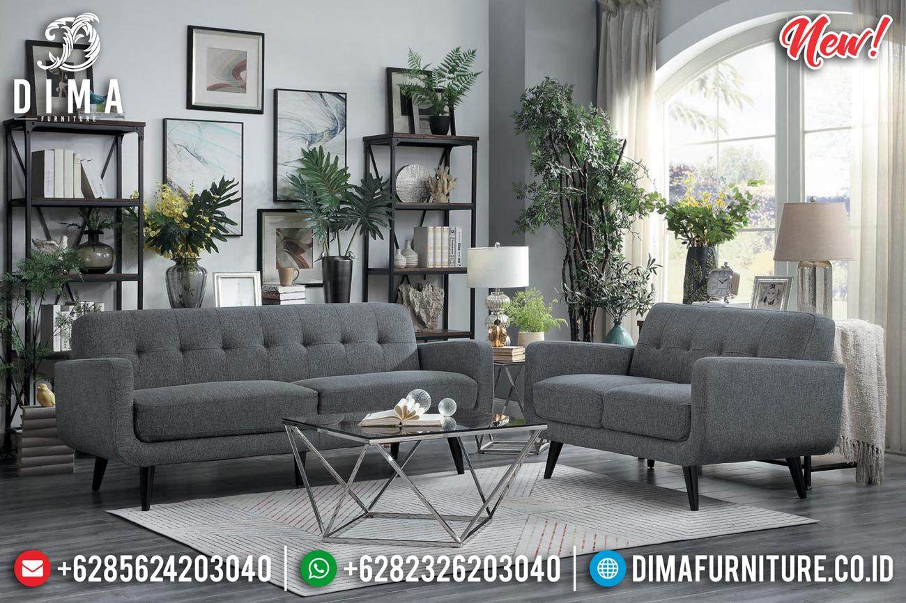 New Sofa Tamu Minimalis Modern Kayu Jati Natural Perhutani Jepara TTJ-0844