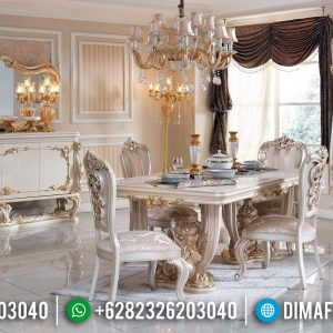 Set Meja Makan 6 Kursi Mewah Luxury Classic Best Seller Duco Color TTJ-0773