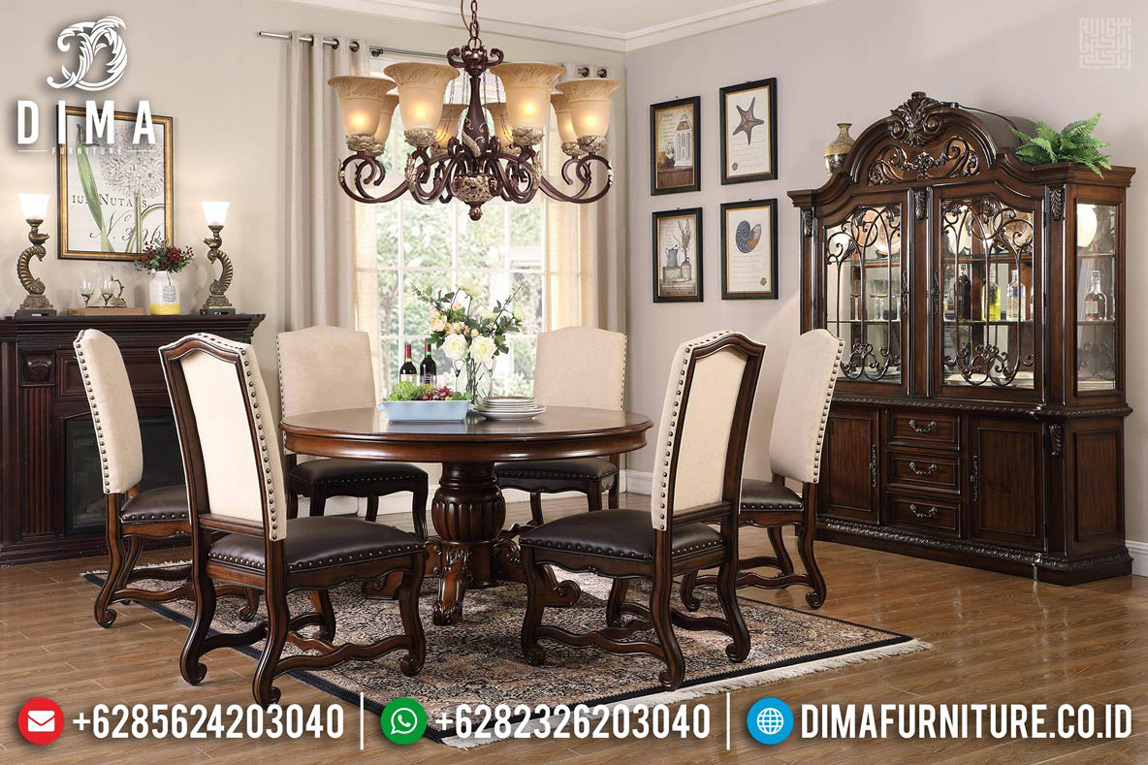 Set Meja Makan Minimalis Jati Perhutani Best Seller Furniture Jepara TTJ-0766