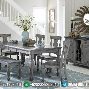 Set Meja Makan Minimalis New Rustic Style French Furniture Luxury TTJ-0791