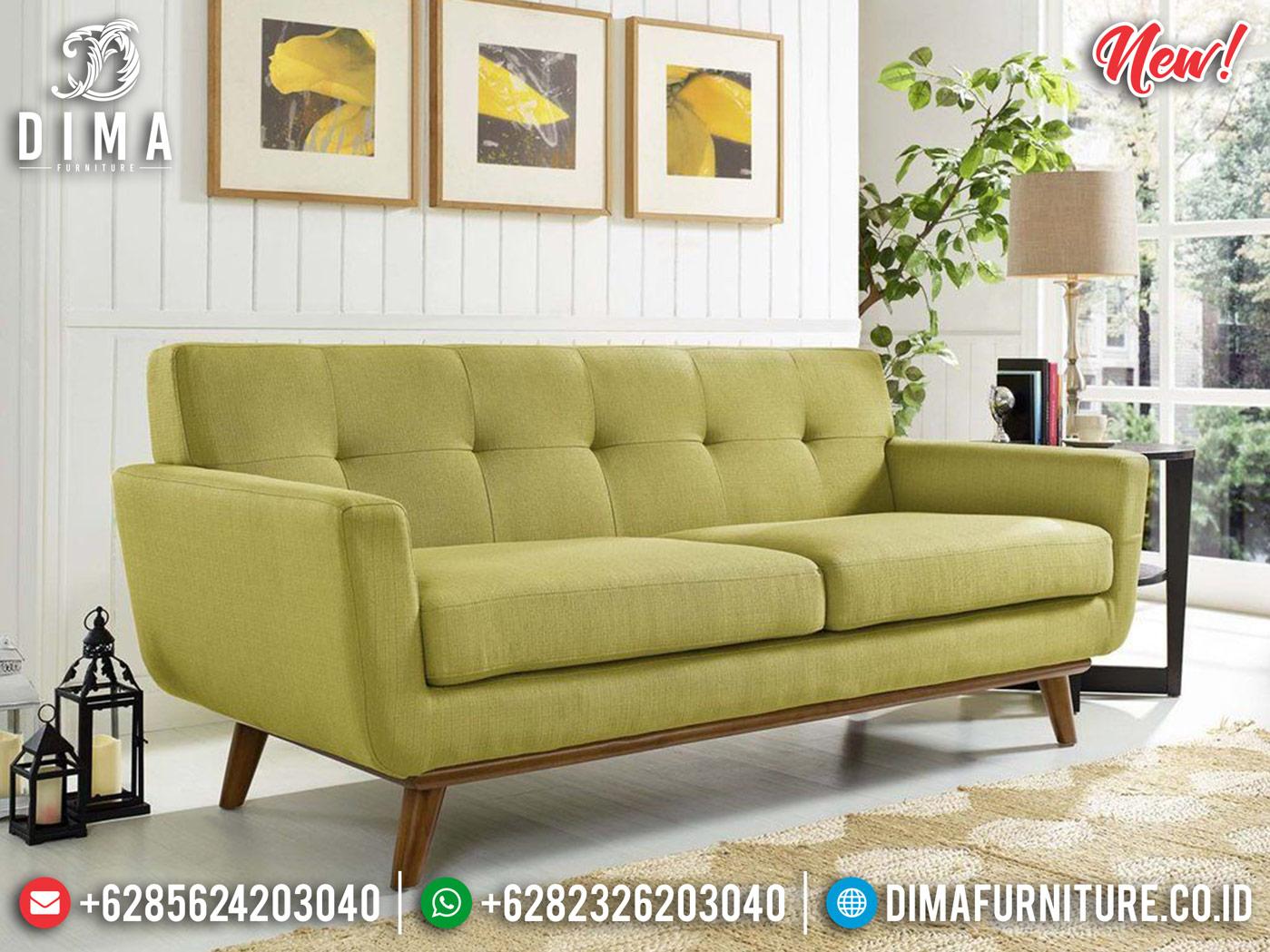 Set Sofa Tamu Minimalis Natural Kayu Jati Perhutani Best Seller TTJ-0841 Detail 1