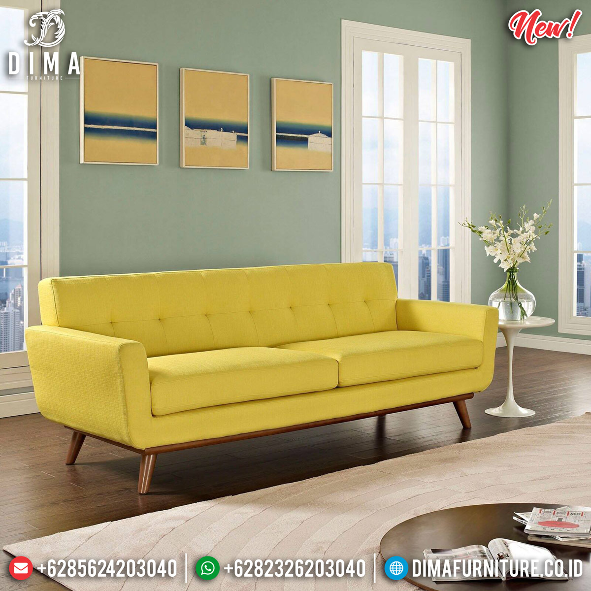 Sofa Minimalis Jepara Simple Minimalist Harga Terjangkau TTJ-0849 Model 1